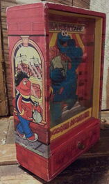 Gorham cookie monster dancing trinket shadow box 4