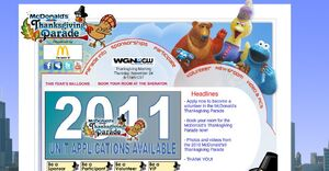 McD Thanksgiving Parade website