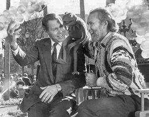 Michael Eisner and Jim Henson