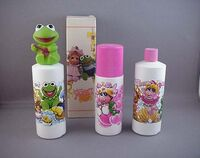 Avon 1985 roll on soap bubble bath shampoo muppet babies daryl cagle art