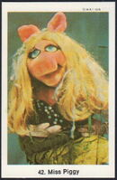 Sweden swap gum cards 42 miss piggy