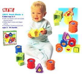 Tyco 1998 puzzle blocks