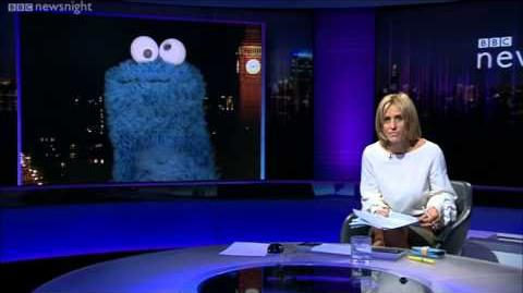NEWSNIGHT Cookie Monster gets the last word