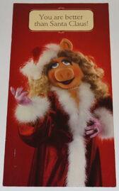 Hallmark 1983 christmas card piggy 1