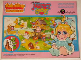 Colorforms 1985 muppet babies rub n' play transfer set 1