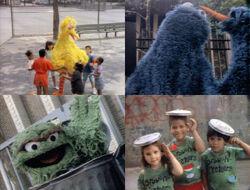 Hand Talk Muppets on location
