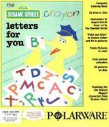 Sesame crayon letters