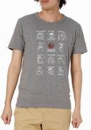 Mono comme ca ism japan 2013 t-shirt feelings with rhinestone elmo gray