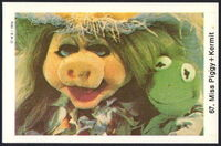 Sweden swap gum cards 67 miss piggy and kermit