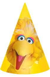 Big bird cone party hats