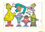 Colorforms 1978 sesame mother goose stand-up play set 5