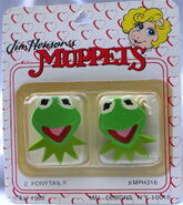 M&l designs barrettes 1989 kermit