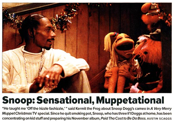 Snoop Dogg Christmas.Snoop Dogg Muppet Wiki Fandom Powered By Wikia