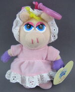 Clip toy play 2003 piggy baby bag clip plush