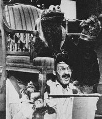 Frank Oz performing Cookie Monster on Monsterpiece Theater