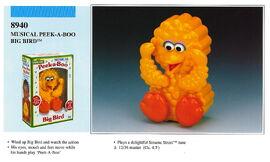 Illco 1992 baby toys musical peek-a-boo big bird