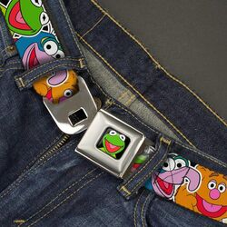Buckle-down belt muppets faces close-up 2