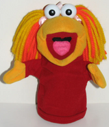 Dakin 1988 red fraggle puppet