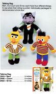 Knickerbocker 1978 catalog talking rag doll ernie bert count