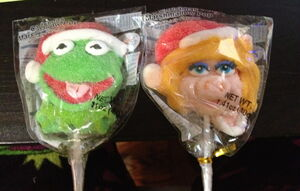 Muppet marshmallow pops
