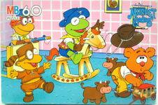 Milton bradley muppet babies puzzle cowboy