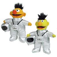 Barrio Sesamo Ernie Bert astronaut plush