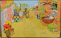Colorforms 1986 big bird playset b