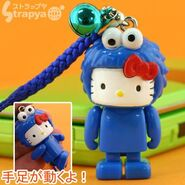 Strapya 2011 mascot hello kitty plastic small cookie monster japan