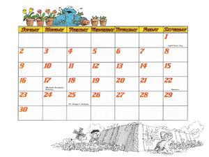1978 calendar 04 April b