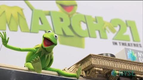 Kermit rings bell at NYSE