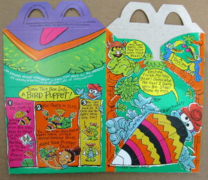 Mcdonalds 1994 muppet workshop happy meal box premium 8