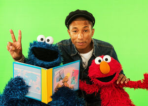 Pharrell Williams Cookie Elmo