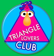 Triangle Lovers Club series pin