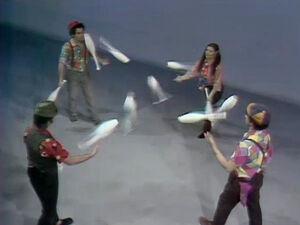 Four jugglers in limbo