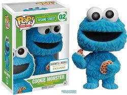 Cookie monster flocked funko barnes & noble
