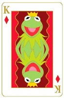 Disney pin playing cards kermit