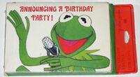 Hallmark 1978 kermit birthday invitation