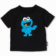 Mono comme ca ism japan 2013 toddler t-shirt moving fabric arms cookie monster
