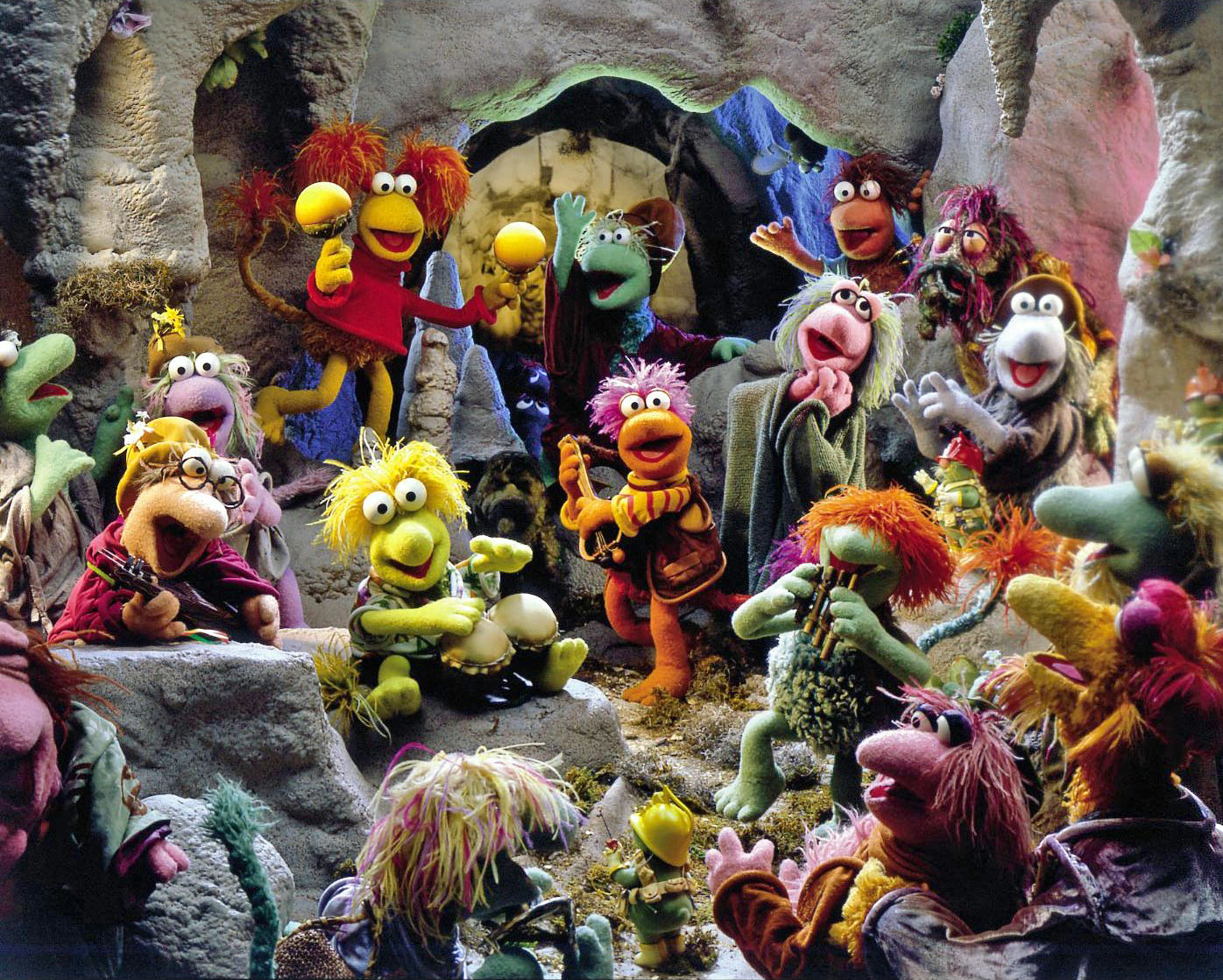 Image - FraggleRock-Fraggles&MinstrelsMakeMusic.jpg   Muppet Wiki ...