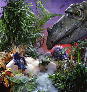 Gonzo-Emerges-From-A-Dinosaur-Egg