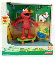 Fisher-price 2000 playtime talker elmo skateboard puppy 1
