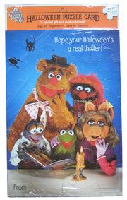 Hallmark halloween puzzle card