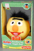 Fisher-price 2005 double fun giggle ball giggle surprise bert and ernie