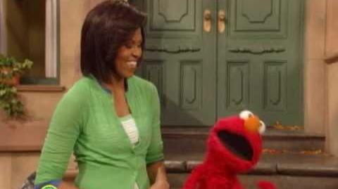 Michelle Obama and Elmo - Exercise