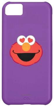 Zazzle elmo smiling face with heart shaped eyes