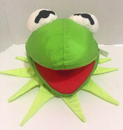 Play by play muppets inc 1997 miss piggy and kermit face plush nylon 2