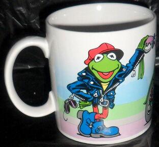 Presents 1991 kermit green machine mug 1