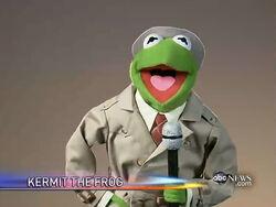 Reporter Kermit farewell Charlie Gibson