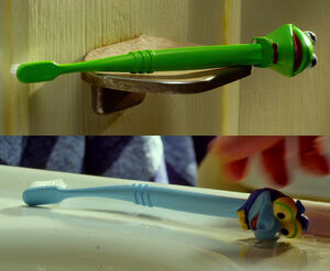 Gary and Walter's toothbrushes