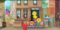 Fun Fun Elmo stoop